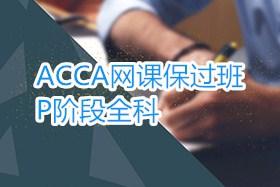ACCA网课保过班:P阶段全科课程