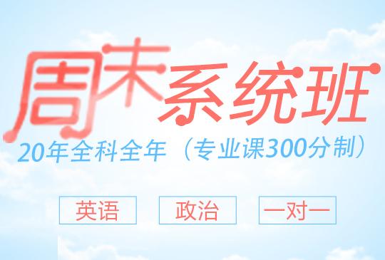 【周末系统班】全科全年(专业课300分制)