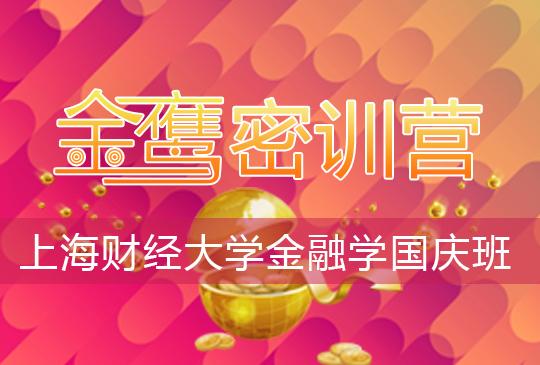 【金鹰密训营】上海财经大学金融学(810)国庆班