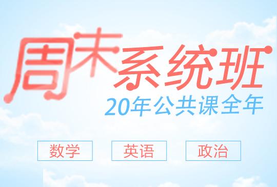【周末系统班】公共课全年