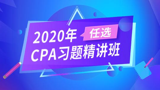 2020年CPA习题精讲班