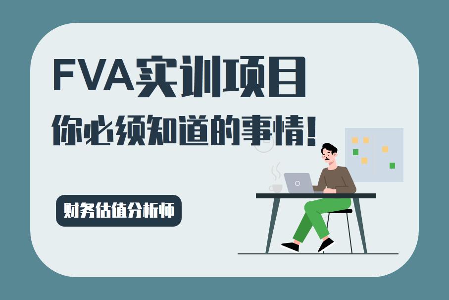 FVA财务估值分析师实训项目项目介绍