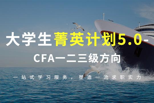大学生菁英计划5.0—CFA一二三级方向