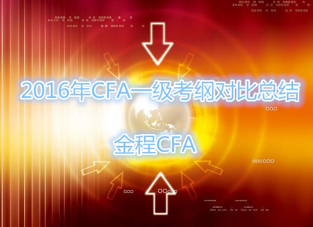 2016年CFA一级考纲对比总结