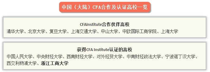 CFA认证院校