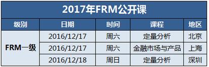 2017年FRM公开课