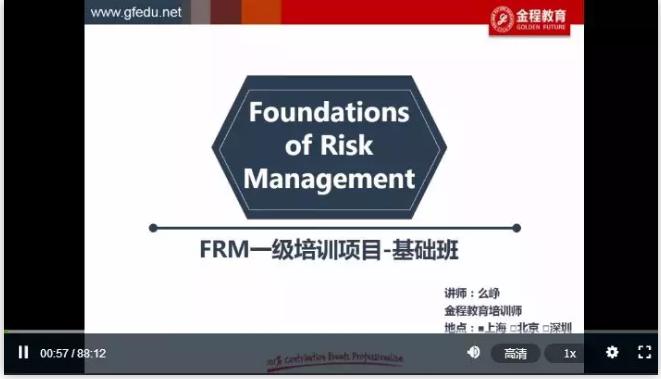 FRM核心课程免费